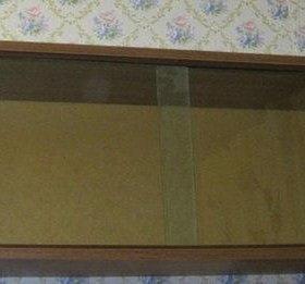 полка для книг со стёклами 2 шт размер 95х32х24 см