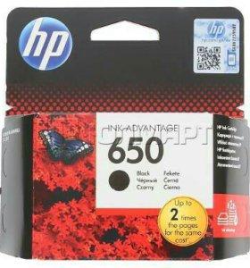 Картридж HP 650 черный оригинальный