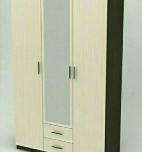 Шкаф 120 см Фиеста 3- створчатый