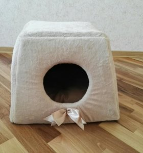 Лежак-трансформер домик для кота или собаки