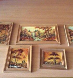 Картинки из  натурального янтаря