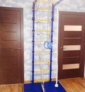 Шведская стенка в квартиру синяя