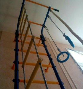 Гимнастическая стенка для упражнений (синяя)