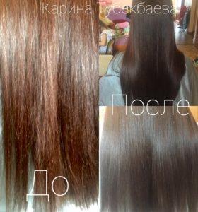 Полировка волос , любая длина