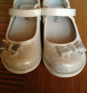 Туфли для девочки комбинированая кожа