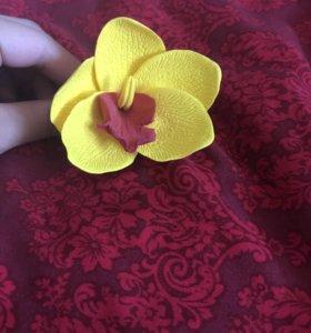 """Новая заколка """"Орхидея"""" из полимерной глины"""