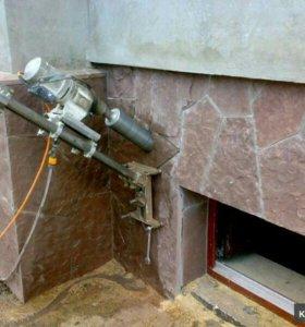 Алмазное бурение (сверление) бетона и кирпича.