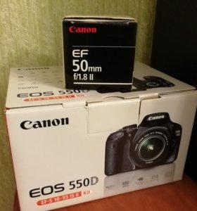 Зеркальный фотоаппарат Canon EOS 550 D