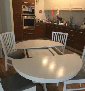 Стол и стулья как новые икеа ингаторп
