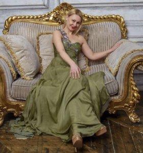 Вечернее платье -роскошный натуральный шелк.