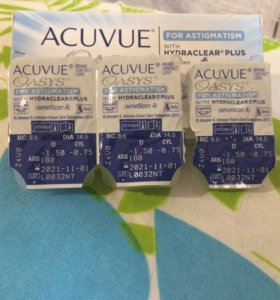 Acuvue Oasys for astigmatism -1,5