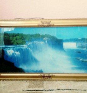 Продам картину со звуком водопада
