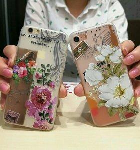 Новый чехол для iphone 7 с бронь стекло
