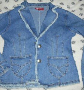 Джинсово-стрейчевая курточка-пиджак
