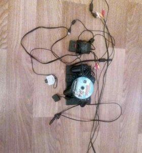 Пс2,два джостика,камера eye toy,зарядка