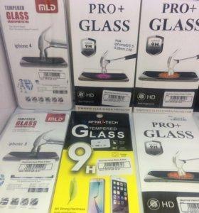Защитные стекла на iPhone 4,5,6,7