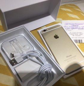 iPhone 6 Gold. На гарантии