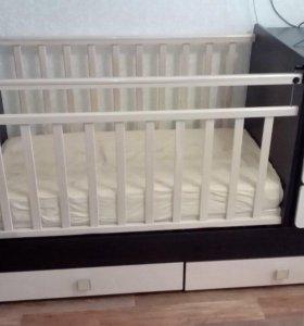Кроватка детская трасформер