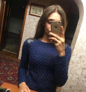 Свитер синий