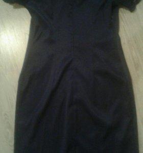 Платье темно- синие