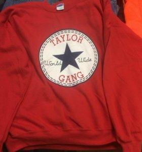 Красный свитшот Taylor gang
