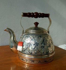 Серебряный чайник 875 пробы новый