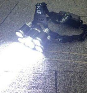 Мощный налобный фонарик. Доставка