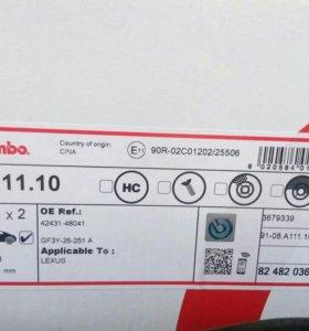 Тормозные диски brembo 08.A.111.10