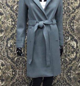 Пальто халат кашемир с капюшоном