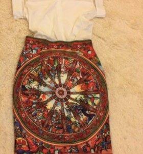 Костюм женский юбка блузка