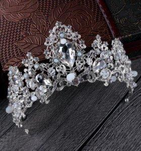 Свадебная корона/диадема и серьги