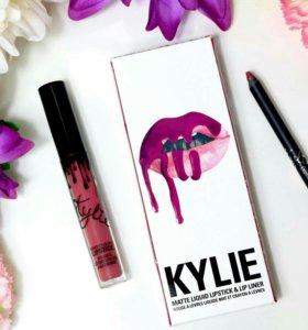 Матовые помады Kylie Jenner Lip Kit + карандаш