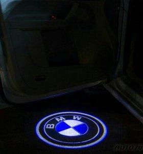 Подсветка ОРИГИНАЛ! логотип в двери bmw