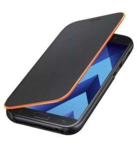 Samsung a3 2017 + neon flip cover black