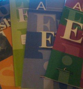 Печатные тетради (учебники) по английскому языку.