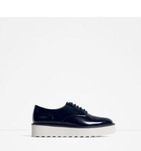 Туфли со шнуровкой, на платформе
