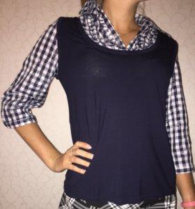Комбинированная рубашка