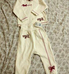 Детский костюм, кофта и ползунки