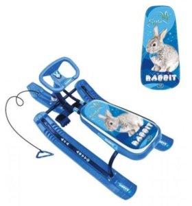 Новый Снегокат Кролик синий
