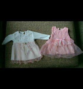 Платье на девочку, для новорожденных