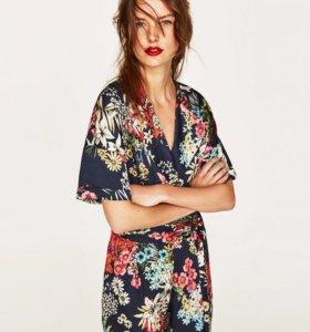 Комбинезон Zara с цветочным принтом
