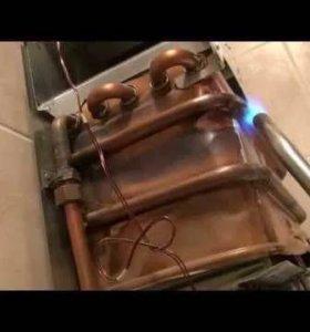 Промывка / ремонт теплообменников газовых колонок