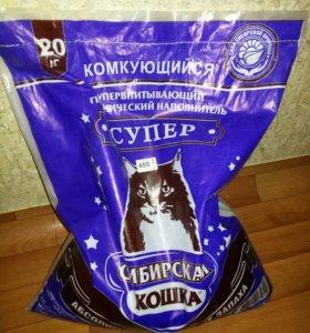 Наполнитель комкующийся Сибирская кошка Супер