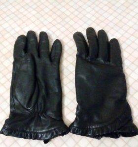 Перчатки на полную руку, кожа