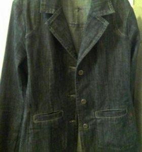Джинвовый пиджак