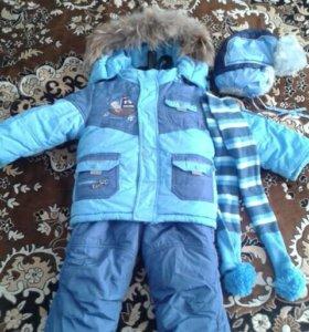 Зимний костюм на овчине . Шапка в подарок.