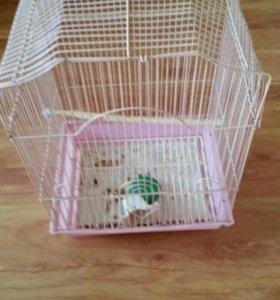 Клетка для птиц небольшая б/у.