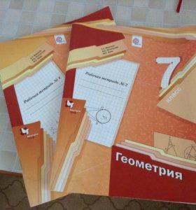 Тетради рабочие, геометрия 7 класс