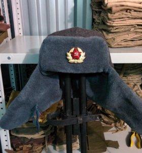 Шапка ушанка солдатская СССР