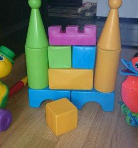 Конструктор башня, пластик, каталка, игрушки